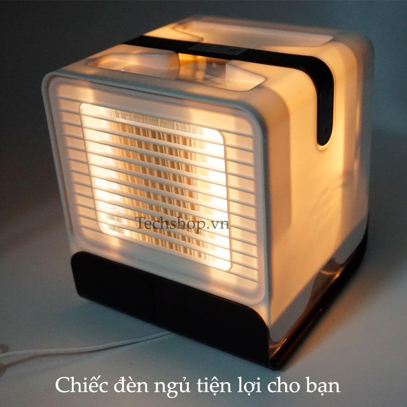 Quạt có đèn led dùng làm một chiếc đèn ngủ tiện lợi