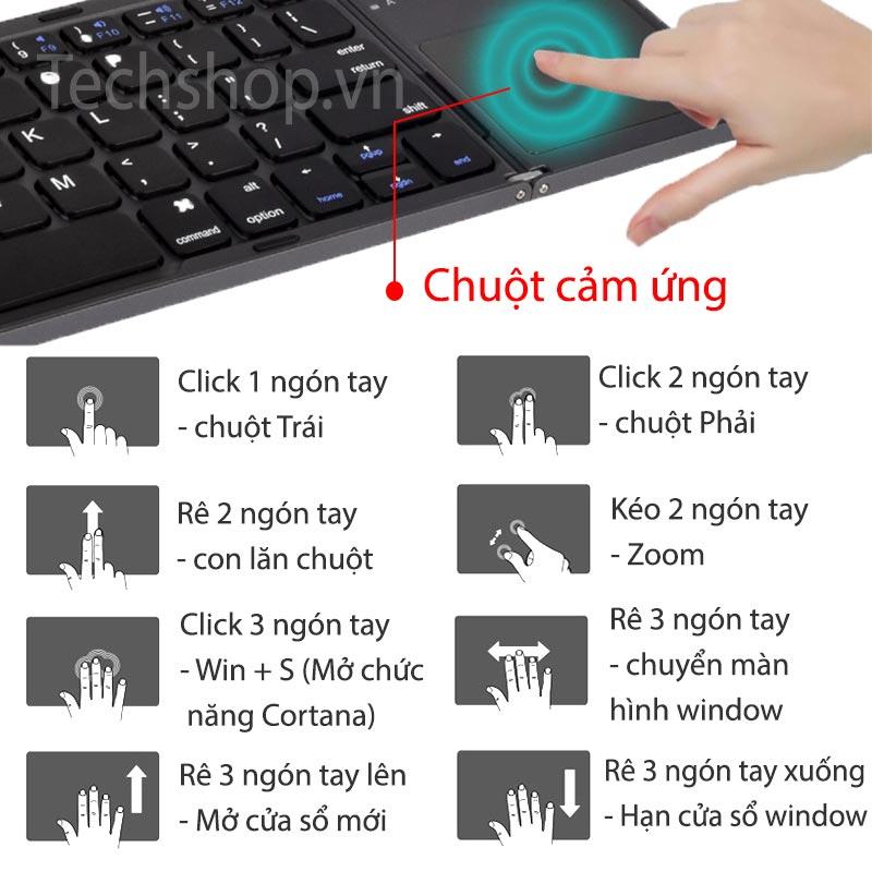 Touchpad điều khiển linh hoạt và đơn giản
