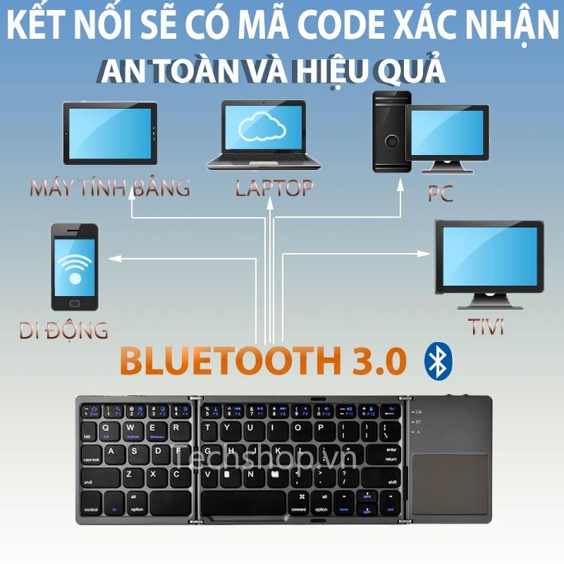 Với bàn phím bluetooth gấp gọn sử dụng thiết bị linh hoạt hơn