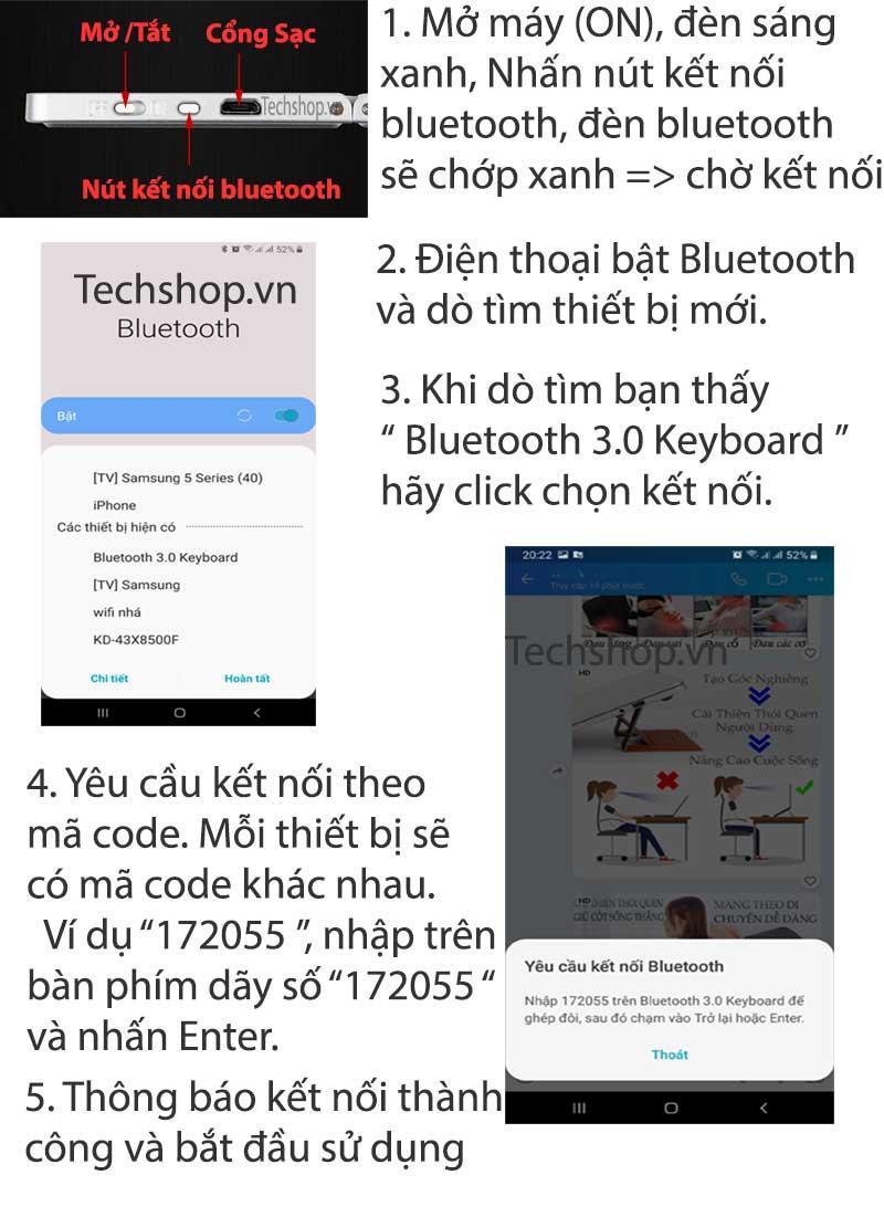 Cách kết nối bàn phím với thiết bị qua bluetooth