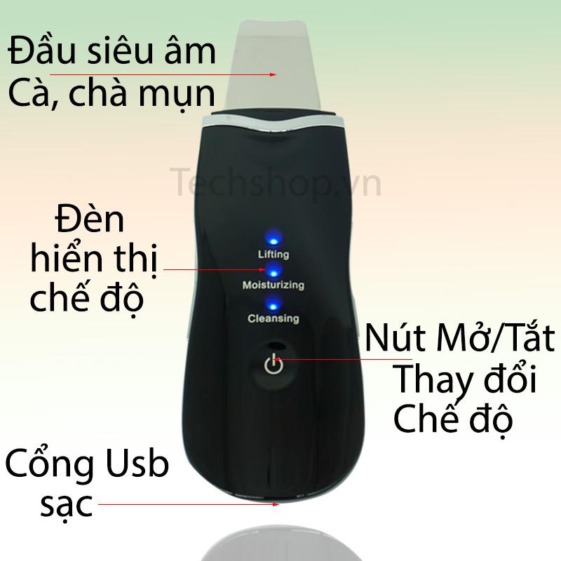 Máy tẩy da sóng siêu âm vận hành chỉ với một nút nhấn