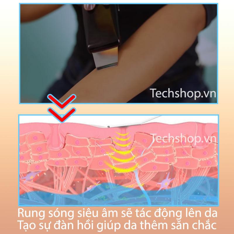 Với sóng siêu âm sẽ tác động sâu vào lớp da tạo đàn hồi cao
