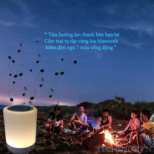 Loa bluetooth kiêm đèn ngủ 7 màu
