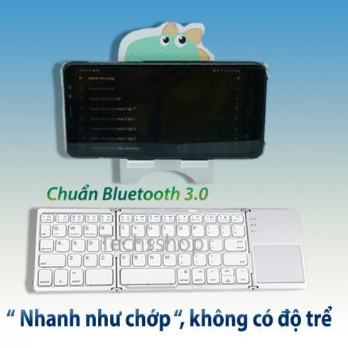 Bàn phím bluetooth gấp gọn có chuột cảm ứng 2IN1