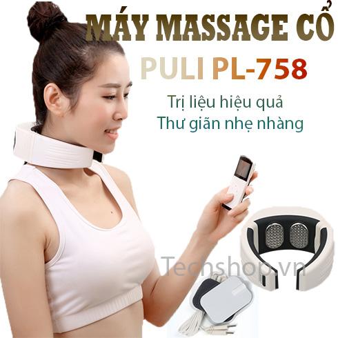 Máy massage vai gáy cổ Puli PL-758 có remote có hồng ngoại