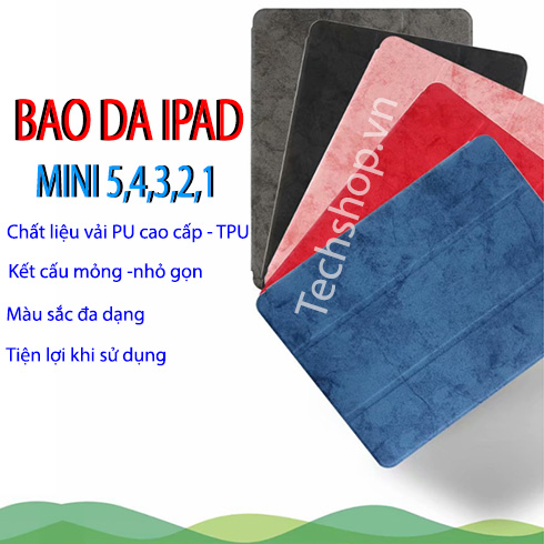 Bao da iPad mini 5 bao da silicon dẻo iPad mini - màu xanh