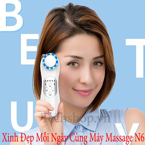 Máy massage mặt - Máy massage trị thâm chống lão hóa da N6 cao cấp