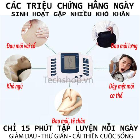 Máy massage xung điện 6 miếng dán và đôi dép massage