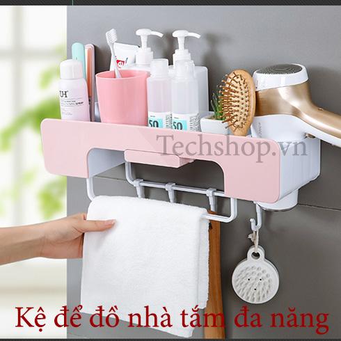 Kệ để đồ nhà tắm đa năng dán tường