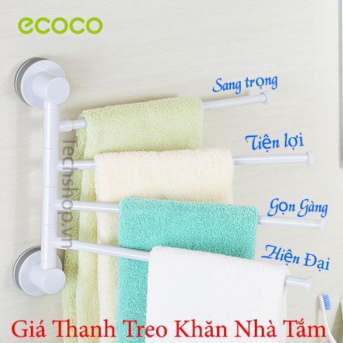 Giá thanh treo khăn quần áo Ecoco FBTR-A11 loại 4 thanh