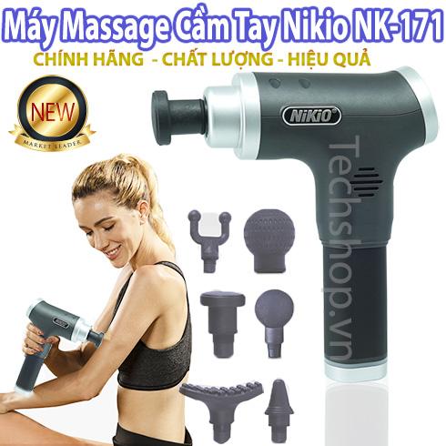 Súng massage cao cấp 6 đầu không dây Nikio NK-171