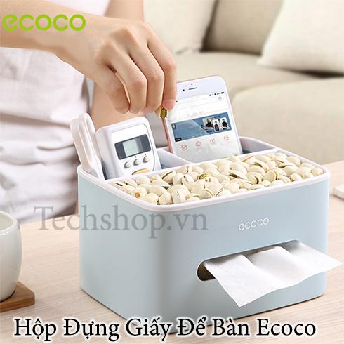Hộp đựng giấy ăn để bàn cao cấp Ecoco E1602