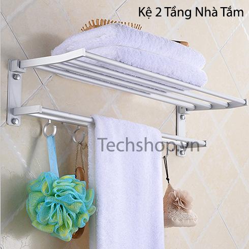 Kệ để khăn nhà tắm 2 tầng hợp kim nhôm