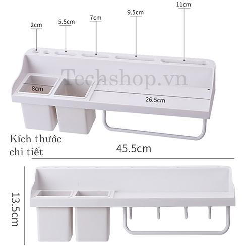 Kệ nhà bếp đa năng 6in1 tiện lợi - kệ dán tường nhà bếp RA-833