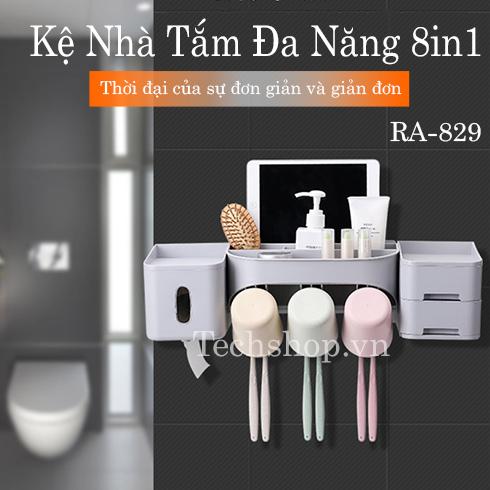 Kệ nhà tắm để đồ đa năng 8in1 Renai RA-829C