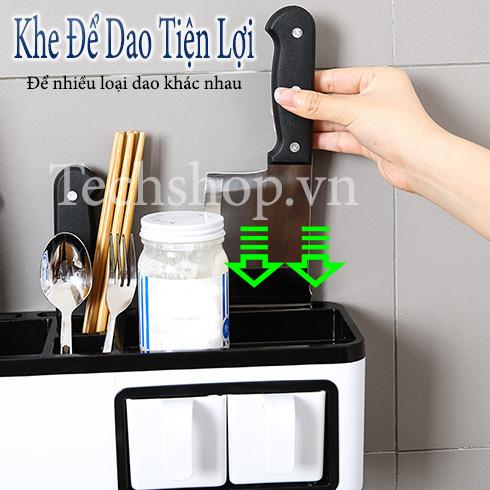 Kệ đựng hủ gia vị dao kéo nhà bếp đa năng 7in1 Renai Ra-815